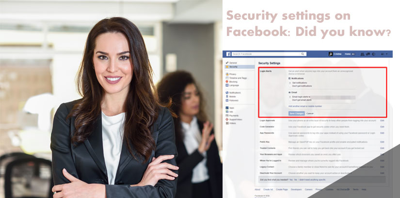 Security settings on Facebook