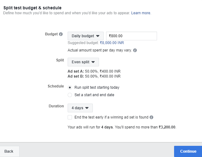 Budget and schedule setting