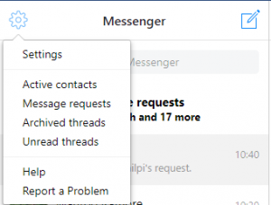 Archived threads in messenger setting