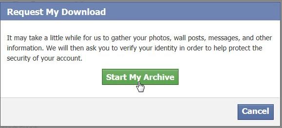 start my Archive tab