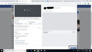 Facebook offer setup
